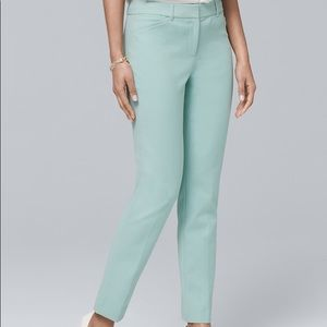 WHBM slim ankle crop pants